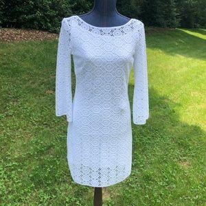 Lilly Pulitzer Topanga White Lace Dress Size S